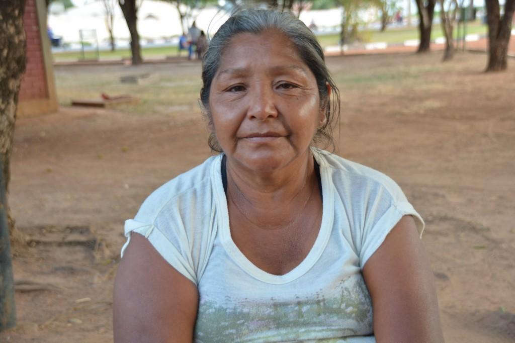 Erminia Ratti veio de Tucupita para assistir o filho Jean Luiz internado em Boa Vista
