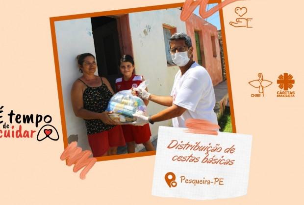 Paróquias ajudam famílias em situação de vulnerabilidade diante da pandemia do coronavírus.