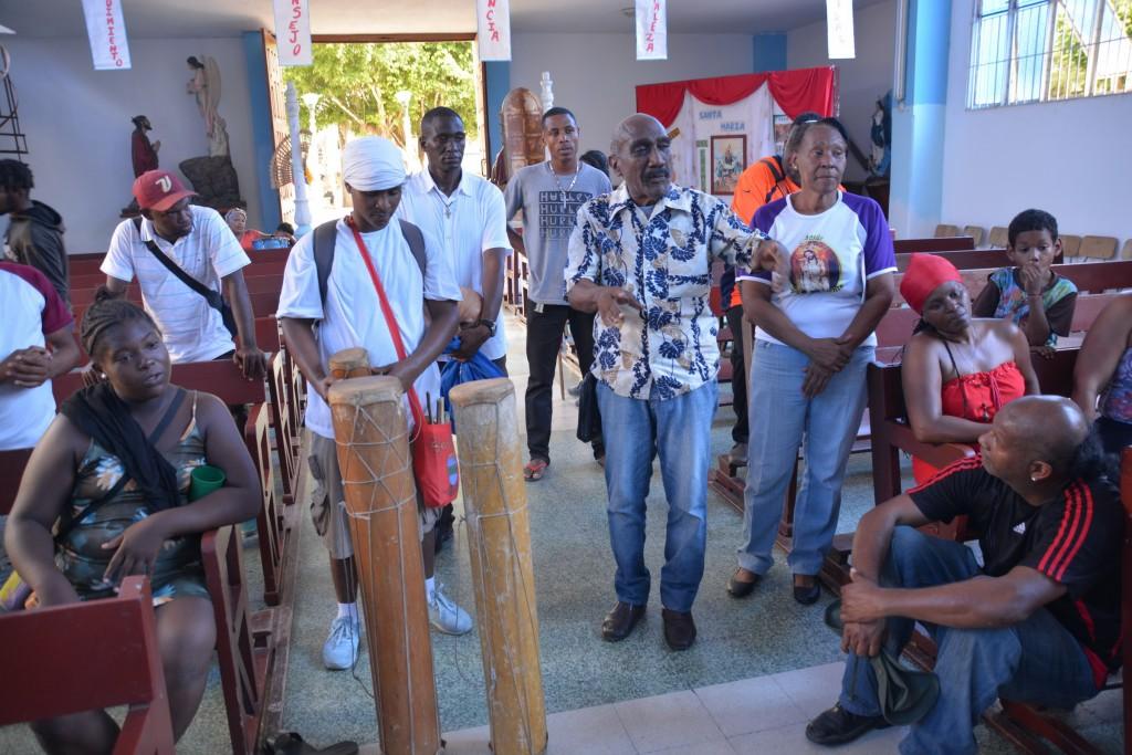 Honor a San Juan en la igrelia de El Clavo Barlovento
