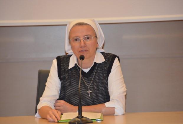 Irmã Simona Brambila, mc, auditório José Allamano em Roma. (Foto: Jaime C. Patias)