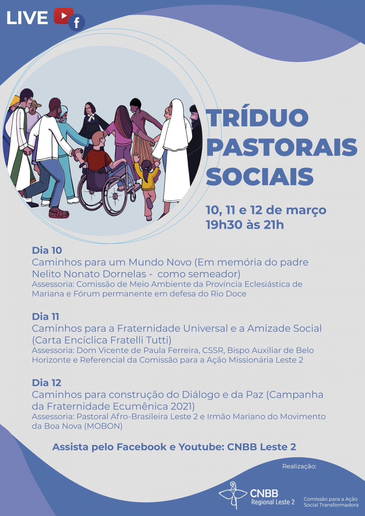 Live Pastorais Sociais