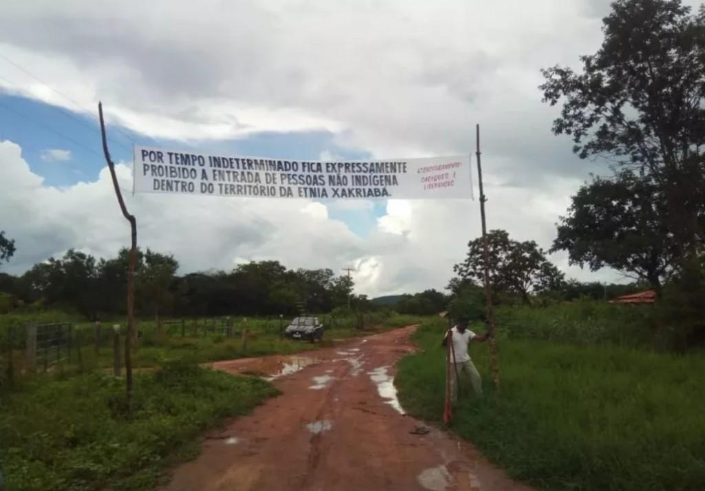 Em Minas, PM não respeitou isolamento. Crédito da foto: povo Xakriabá