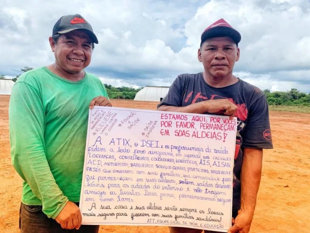 """Povos do Xingu temem até os profissionais da saúde; """"não tragam amigos ou turistas"""". Crédito da foto: Divulgação"""