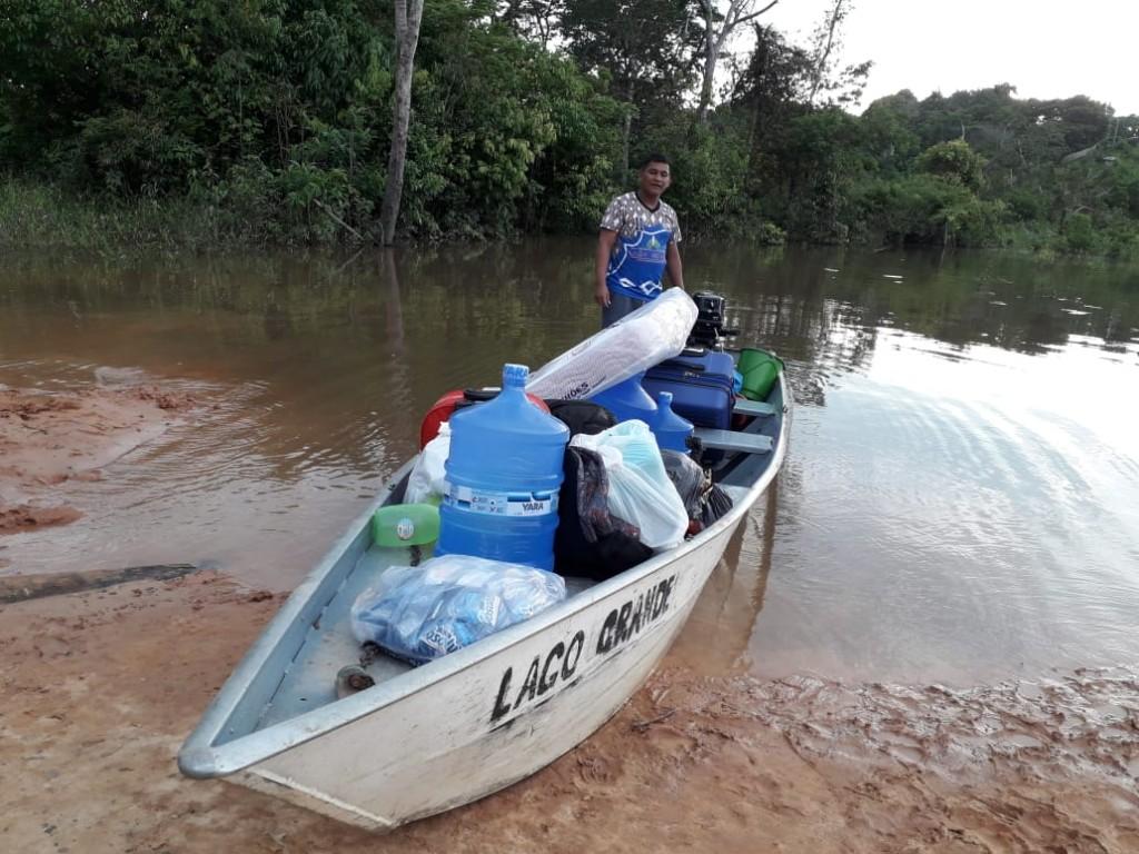 Comunidade de indígena Tikuna está sendo monitorada pela Sesai. (Foto: Secretária Municipal de Saúde de Santo Antônio do Içá)