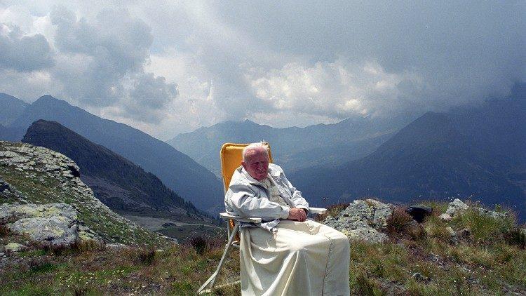 São João Paulo II no Vale d'Aosta, no ano 2000