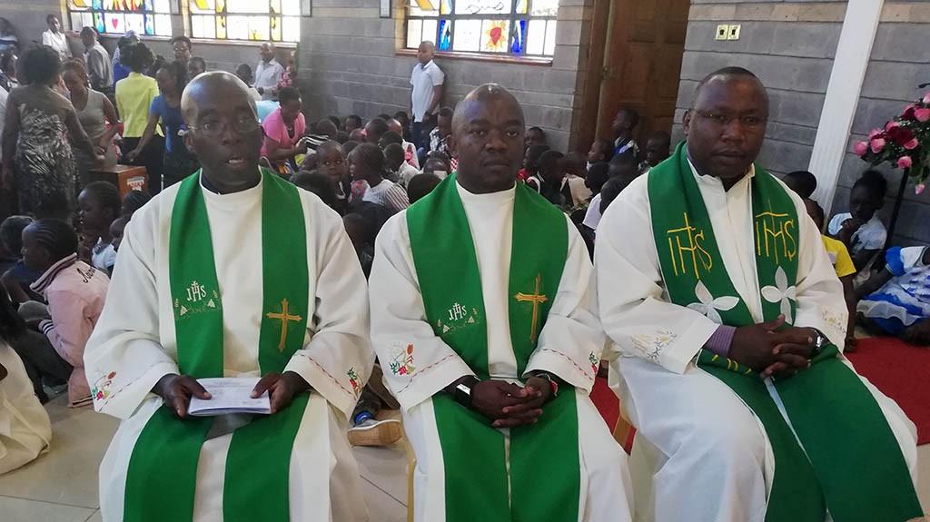 Os três missionários enviados.