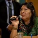 A deputada Joênia Wapichana é a presidente da Frente Parlamentar Mista em Defesa dos Povos Indígenas. Crédito da foto: Tiago Miotto/MNI