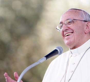 CAGLIARI, ITALY - SEPTEMBER 22:  Pope Francis delivers his speech during a meeting with young people on September 22, 2013 in Cagliari, Italy. Pope Francis heads to Cagliari on the Italian island of Sardinia for a pastoral visit that includes celebrating mass at the Sanctuary of Our Lady of Bonaria. The Pope announced in May that he wished to visit the Marian Shrine of Bonaria or 'Good Air' because it gave his hometown of Buenos Aires its name. During his 10-hour visit to the city of Cagliari, the Pope will also meet workers, business representatives, prisoners, the poor, young people, leading representatives from the world of culture and the island's Catholic bishops.  (Photo by Franco Origlia/Getty Images)