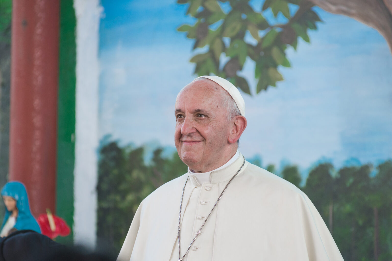 Papa Francisco na Amazônia peruana em 2018 – Foto: Miguel Arreátegui