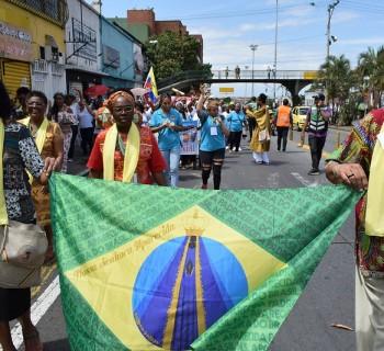 Delegação da Pastoral Afro-Brasileira no XIV EPA em Cali, Colômbia. Foto: Antena Misionera