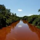 Rio Paraopeba após o rompimento da barragem em Brumadinho.