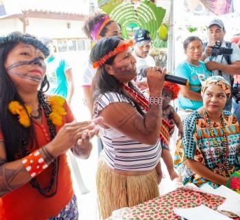 Altamira, 18/11/2019 – lideranças indígenas Munduruku: em uma semana, povo perdeu dois caciques para a covid-19. Crédito da foto: Lilo Clareto/ISA