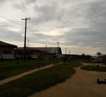 Imagem da aldeia Tikuna que está sendo monitorada. (Foto: Secretaria Municipal de Saúde de Santo Antônio do Içá)