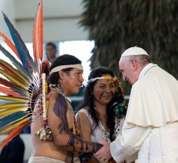 Encontro do Papa Francisco com indígenas em Puerto Maldonado  (Vatican Media)